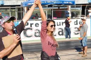 Sabrina Lorene é a primeira mulher a vencer uma prova da categoria Dianteira Turbo B no Brasil