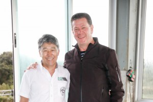 Jorge Myasava, vice-presidente; e Juraci Massoni, presidente do Automóvel Clube de Cascavel