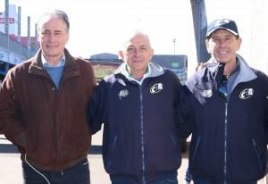 Edgar Bueno, prefeito de Cascavel; Rubens Gatti, presidente da FPrA; e Milton Sperafico, vice-presidente da CBA