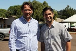 Assis Marcos Gurgacz, vice-presidente; e Jaime Agostinho, diretor do Kart Clube de Cascavel