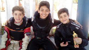 Thiago, Nicolas e Gabriel são os primeiros kartistas formados pela Escolinha de Londrina a participarem do Brasileiro de Kart