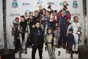 Pódio da Copa Mercosul, coroamento da festas do kart em Foz