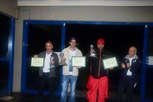 Wilson Kavilhuka (vice-campeão), Jean Gans (campeão) e Aleksandro Versalli (3º), as feras da categoria Marcas B em 2016