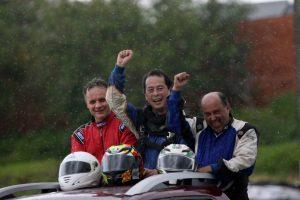 César Vasceli (3º), Sérgio Hayashi (campeão) e Leonil Fernandes dos Reis (vice-campeão) da F-4 Super Sênior