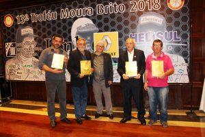"O Troféu Moura Brito 2018 vai para Affonso Ebbers (póstumo), Ricardo Voigt, Rubens Gatti e Osmar ""Lagarto"" Sorbara (Mario Ferreira)"