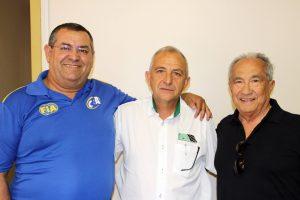 Bento Tino, Rubens Gatti e Valmor Weiss encabeçam a chapa única para o pleito desta sexta-feira (Foto: Mario Ferreira)