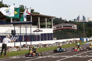 O Kartódromo Delci Damian vive as primeiras emoções Pré-Brasileiro de Kart (Foto: Mario Ferreira)