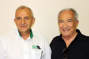 Rubens Gatti e Valmor Weiss, parceiros na administração do automobilismo paranaense (Foto: Mario Ferreira)