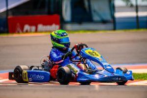Firás Fahs inicia a temporada de kart de 2021 em casa, quando disputará a categoria F-4 Júnior no Citadino de Foz do Iguaçu (Foto: Divulgação)