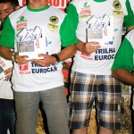 Edson Magnetti e Vinicius Galloinacio comemoram a vitória na categoria Graduados